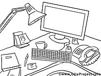 Ordinateur image à télécharger – Économie à colorier