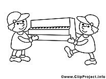 Piano porteurs images – Économie gratuits à imprimer