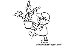 Plante déménageur image – Économie images à colorier