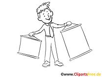 Présentation clipart gratuit – Économie à colorier