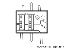 Projet dessin – Coloriage économie à télécharger