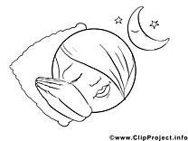 Dors image – Coloriage émoticônes illustration