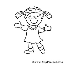 Coloriage enfants illustration à télécharger