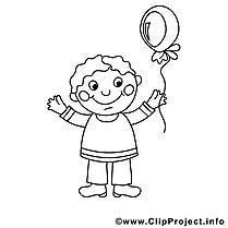 Garçon dessin – Coloriage enfants à télécharger