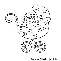 Poussette illustration – Enfants à imprimer