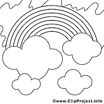 Arc-en-ciel clip art gratuit – Été à colorier