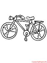 Bicyclette image gratuite – Été à colorier