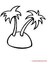 Coloriage palmes été image à télécharger