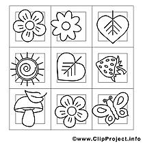 Décoration dessin – Été gratuits à imprimer