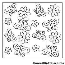 Décoration dessins gratuits – Été à colorier