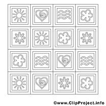 Décoration images – Été gratuit à imprimer
