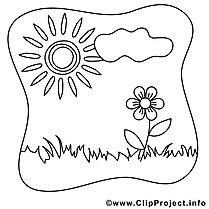 Fleur soleil images – Été gratuit à imprimer