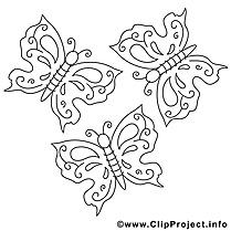 Images gratuites papillons – Été à colorier