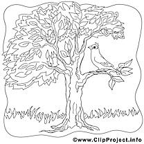Oiseau arbre clip arts – Été à imprimer