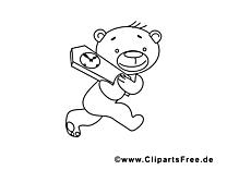 Ours en peluche dessin – Coloriage été à télécharger