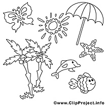 Palmes soleil illustration – Été à imprimer