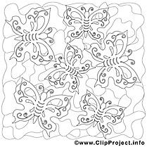 Papillons image gratuite – Été à imprimer