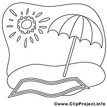 Parasol soleil clip art gratuit – Été à imprimer