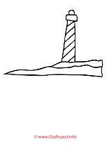Phare dessin à télécharger – Été à colorier
