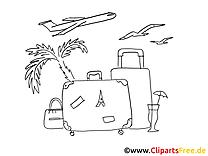 Voyage clip arts – Été à imprimer