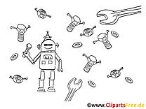 Robot dessin gratuit clip arts gratuits