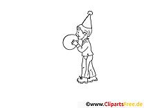Boule dessin – Soirée gratuits à imprimer
