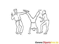 Break dance dessins gratuits – Soirée à colorier