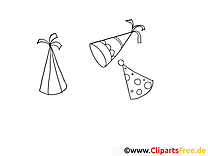Chapeaux illustration – Soirée à imprimer