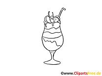 Cocktail dessin – Coloriage soirée à télécharger