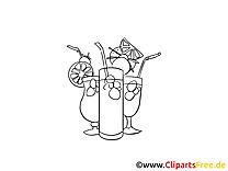 Cocktails clip arts – Soirée à imprimer