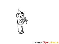 Gâteau garçon dessin gratuit – Soirée à colorier