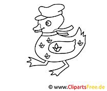 Canard cliparts gratuis – Campagne à imprimer
