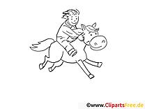 Chevalier illustration – Campagne à imprimer