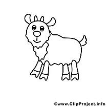 Chèvre image – Campagne images à colorier