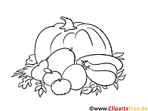 Coloriage citrouille campagne image à télécharger
