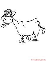 La vache laitiere coloriage