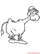 La vache pauvre coloriage