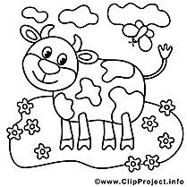 Vache clipart – Campagne dessins à colorier