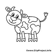 Vache dessins gratuits – Campagne à colorier