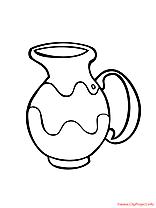 Vase illustration – Campagne à colorier