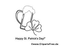 Coloriage bière image à télécharger gratuite