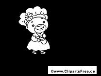 Femme dessin – Coloriage Saint-Patrick à télécharger
