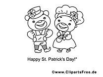 Fête clip art – Saint-Patrick image à colorier