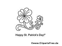 Fleur clipart – Saint-Patrick dessins à colorier