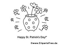 Fleurs dessin – Coloriage Saint-Patrick à télécharger