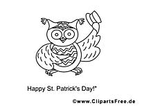 Hibou dessin – Saint-Patrick gratuits à imprimer