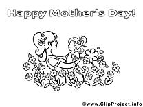 Bébé image – Fête des mères images à colorier