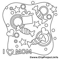 Bonbons cliparts gratuis – Fête des mères à imprimer