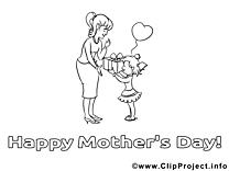 Cadeau clip art gratuit – Fête des mères à imprimer