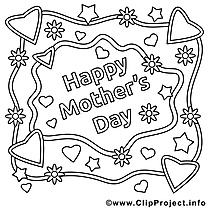 Carte illustration – Fête des mères à imprimer